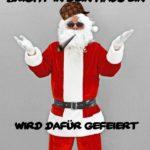 Thug life Santa - gefeierter Gangster