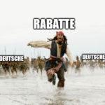 "Deutsches Meme ""Rabatte"""