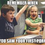 "Meme ""first porn"""