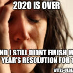 2021 Meme: New Year's Resolutions